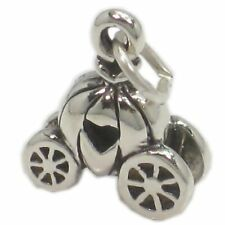 Pumpkin Cinderella Carriage sterling silver charm .925 charms x 1