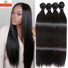 7A 300g 3Bundles Brazilian Malaysian Virgin Human Hair Weave Extensions UK E03