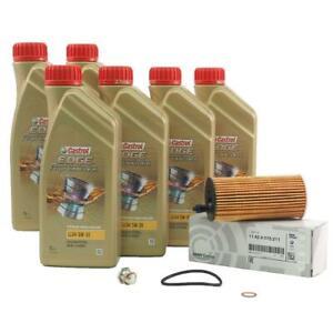 Original BMW Oil Filter+6L 5W30 + Screw F20 F22 F30 F32 F10 F25 F15 G11 G12