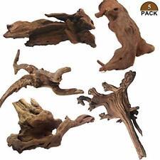Tfwadmx 5Pcs Aquarium Driftwood Branches Reptiles Trunk Driftwood Natural Wood