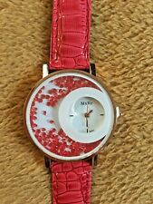 Red Crystal Design Watch