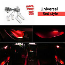 4X Red Auto Car Door Bowl Handle LED Ambient Atmosphere Light Interior Universal