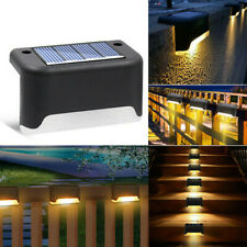 Solar Power Outdoor Fence Wall Lights Garden Pathway Ladder Step Ladder Lamp