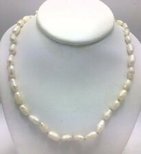 """NATURAL 85 Units WHITE PEARLS NECKLACE 14K GOLD 18"""" *****New with tag******"""