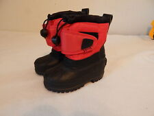 Boys Toddler boots Snow winter Warm  Liners size 5 Black and Red Ranger