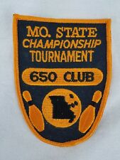 Vtg Bowling Patch Missouri State Championship Tournament 650 Club Patch