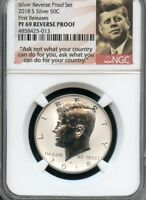 2018 S Silver Kennedy Half Dollar REVERSE PROOF NGC PF69 (POR) FIRST RELEASES.