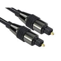 1m SHORT TOSlink Optical Digital Cable Audio Lead PREMIUM CHROME RANGE