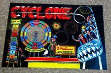 Williams Cyclone pinball machine translite