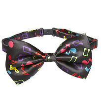 33be5466083c MUSIC PATTERN BOW TIE BOWTIE NOVELTY CONCERT FESTIVAL PROMS JAZZ NIGHTS