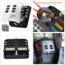 Waterproof Automobiles Marine 6-Way Fuse Box Holder With Red LED Indicator Light