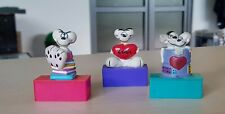 SET of 3 PCS DIDDL MOUSE Figurine Rubber Plastic Pencil Sharpener JAPAN RARE