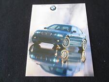 2001 BMW M3 Coupe Brochure E46 Color Sales Catalog 1st year M-3 US Catalogue