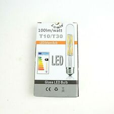 LEOOLS 12W Dimmable Edison Led Tubular Bulb T10/T30 E26 Base Filament Lamp