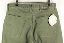RARE VINTAGE Mens LEVIS 618 Jeans REGULAR Buttons GREEN UK MADE W34 L30 P80
