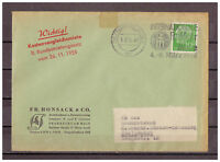 BRD, MiNr. 183 EF Frankfurt a.M. nach Lüchow-Dannenberg 01.03.1956 WSt