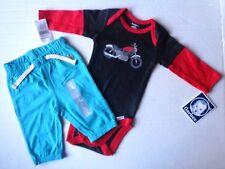 New Gerber Romper & Gap Pants Baby Boys Clothes Size 0-3 M Biker Motorcycle Bike