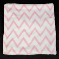 Circo Baby Blanket Pink White Chevron Soft Plush Security Stroller Target 28x29