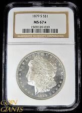 1879-S $1 Morgan Silver Dollar NGC MS 67* High Grade Brilliant Uncirculated Star