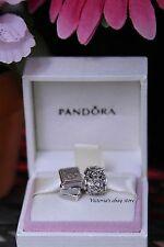 New! Authentic Pandora Graduation Sterling Silver 2 Pcs Charm Set