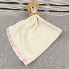 Hallmark Cream & Pink Bear Comforter Blanket Blankie Soother Hug Toy