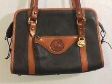 VINTAGE Dooney Bourke Satchel Shoulder Bag Navy All Weather Leather Duck