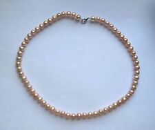 18 Inch/46cm 7.5mm Thick Freshwater Pink Pearl and Sterling silver Necklace