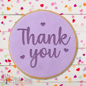 Thank You Embosser Stamp, Cookie Cutter, Fondant cupcake, Baking *NEW*