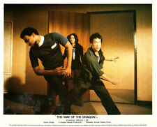 Way of the Dragon original lobby card Bruce Lee delivers right hook punch