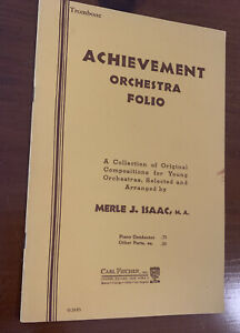 Activity Orchestra folio by Merle J. Isaac, 1938 Vintage Trombone