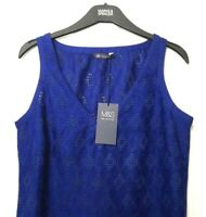 M&S Blue Ladies Embroidery Lace Cotton Top Blouse 8 BNWT / Marks & Spencer Women