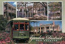 New Orleans Garden District, Streetcar, Louisiana, # 900 Trolley etc. - Postcard