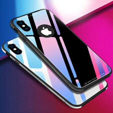 9H Hard Tempered Glass Case For iphone X 8 7 6 6s Funda Luxury Ultra thin Soft