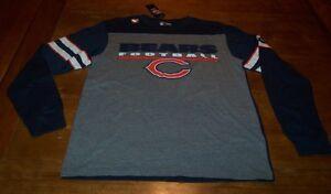 VINTAGE STYLE CHICAGO BEARS NFL FOOTBALL Long Sleeve T-Shirt MEDIUM NEW w/ TAG