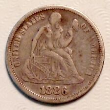 1886  Seated  Liberty Dime 10 Cents