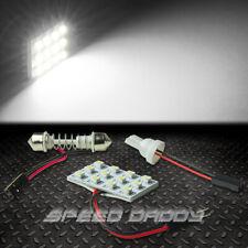 T10 12 SMD 12SMD 3528 CAR/TRUCK WHITE LED INTERIOR DOME/MAP 12V LIGHT BULB/PANEL