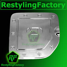 Triple Chrome Fuel Tank Gas door Cover for Nissan 05-15 Frontier LONG Truck Bed