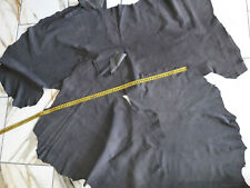 LEDER TIP 29694-YB, Lederreste, 4 Lederhäute Konvolut, velour antikgrau