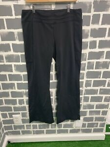 Lucy Women's Flare Yoga Pant In Black Size XL Power