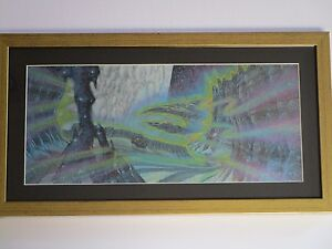LARRY ORTIZ ILLUSTRATION PAINTING SPACE PLANETS SCIENCE FICTION ABSTRACT TRAVEL