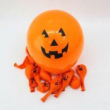 "12 Pack Jack-o'-lantern Balloons 12"" Pumpkin Face Party Halloween Theme Decor"