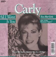 Carly Simon All I Want Is You /  Two Hot Girls Japan Import 45 W/PS 700 Yen