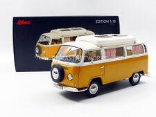 Schuco 1967-1970  VOLKSWAGEN Combi T2a Campingbus Yellow 1/18 Scale New!