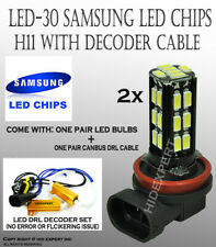 H11 Samsung LED 30 SMD Super White 6000K Fog Light Replace Halogen Bulbs B714