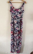 Ladies Viscose Playsuit By New Look Size 8 Navy Floral Mix <R16721