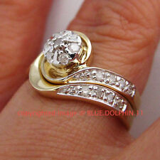 Solitaire with Accents Yellow Natural Fine Rings