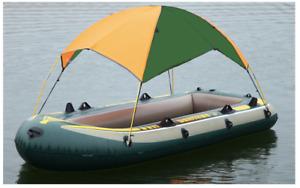 Boot Sonnenschutz/ Regenschutz Passt für Intex Boote Grün/Orange