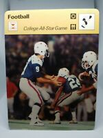 1978 SPORTSCASTER NFL CARD #21-18 COLLEGE ALL-STAR GAME NCAA MINT CONDITION