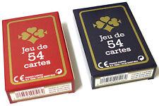 Lot de 2 Jeux de 54 Cartes France-Carte Cadeaux Fête Gauloise Bleue et rouge