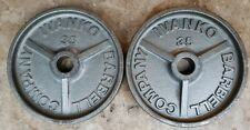 IVANKO Pair 35lb Olympic weight 35 70lbs total gym